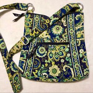 Vera Bradley Crossbody Bag Green/Blue Floral